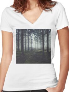 Through The Trees Women's Fitted V-Neck T-Shirt