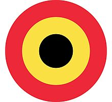 Roundel of Belgian Air Component (Belgian Air Force) Photographic Print
