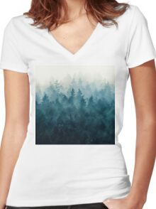 The Heart Of My Heart // So Far From Home Edit Women's Fitted V-Neck T-Shirt