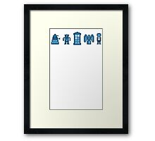 Time and Space Invaders Framed Print
