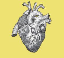 Anatomical Heart Ink Illustration Kids Tee
