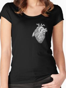 Anatomical Heart Ink Illustration Women's Fitted Scoop T-Shirt