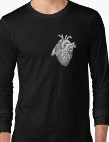 Anatomical Heart Ink Illustration Long Sleeve T-Shirt