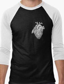 Anatomical Heart Ink Illustration Men's Baseball ¾ T-Shirt