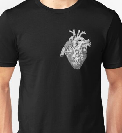 Anatomical Heart Ink Illustration Unisex T-Shirt