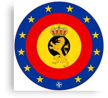 Coat of Arms of Belgian Armed Forces  Canvas Print