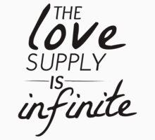 The Love Supply is Infinite Kids Tee
