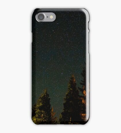 Sea of Beautiful Stars Over Forest  iPhone Case/Skin