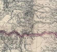 0195 Railroad Maps Map showing the new transcontinental route of the Atlantic Pacific Railroad and its Sticker