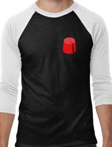 Red Fez of the Moors | Moorish American Clothing Men's Baseball ¾ T-Shirt