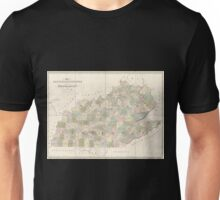 0119 Railroad Maps Map of Kentucky Tennessee exhitibing the post offices post roads canals rail roads c by David H Burr Late topographer to the Post Office Geographer to the Unisex T-Shirt