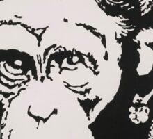 Banksy - Monkey Queen Sticker