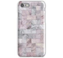 Pink Marble Tiles iPhone Case/Skin