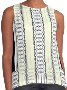 Circle It In Lines and Blocks Contrast Tank