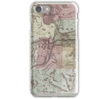 0343 Railroad Maps New trans-continental map of the Pacific R R and routes of overland travel to Colorado Nebraska the Black Hills Utah Idaho Nevada Montana California and iPhone Case/Skin