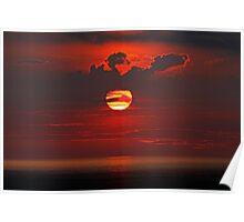 Sunrise over the Atlantic Poster
