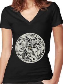 Clockwork Pineapple Women's Fitted V-Neck T-Shirt