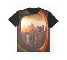 manhattan downtown from the airplane Graphic T-Shirt