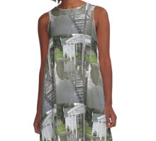 Wooden house reflection A-Line Dress