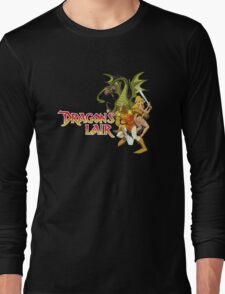 Dragons Lair - White Outline Long Sleeve T-Shirt