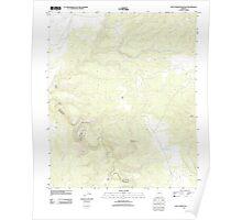 USGS TOPO Map Arizona AZ West Poker Mountain 20111031 TM Poster