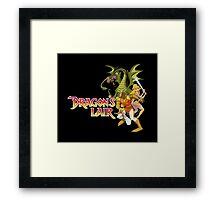 Dragons Lair - White Outline Framed Print