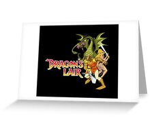 Dragons Lair - White Outline Greeting Card