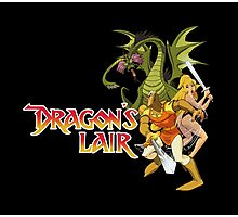 Dragons Lair - White Outline Photographic Print