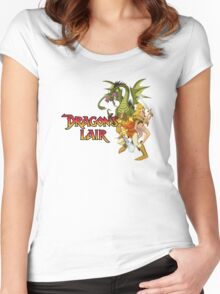 Dragons Lair - Dark Outline Women's Fitted Scoop T-Shirt