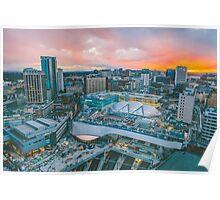 Sunset over Birmingham Poster