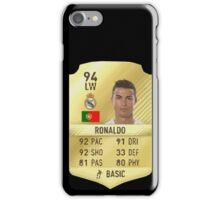 Cristiano Ronaldo Fifa 17 Ultimate team card (Stickers, Phone cases & More) iPhone Case/Skin