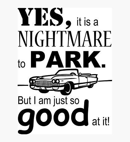 Cadillac Parking Photographic Print