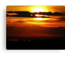 Chico, CA Sunset Canvas Print