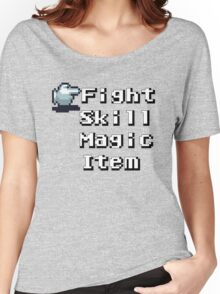 Turn-Based Battle Menu Women's Relaxed Fit T-Shirt