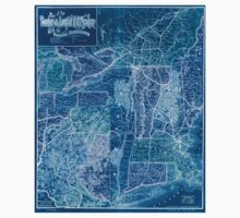 0208 Railroad Maps Map of the Boston Lowell R R system with its principal Inverted Kids Tee