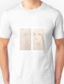 Blind Contour double Unisex T-Shirt