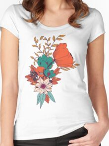 Botanical pattern 010 Women's Fitted Scoop T-Shirt