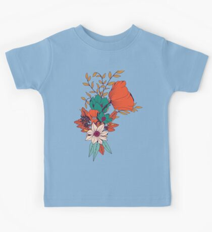 Botanical pattern 010 Kids Tee