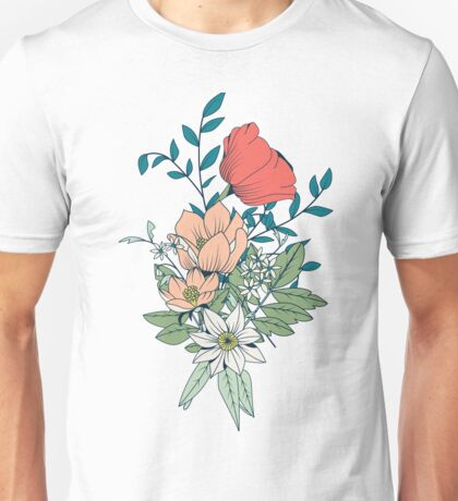 Botanical pattern 001 Unisex T-Shirt