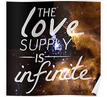 The Love Supply is Infinite: Space Edition Poster