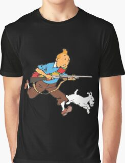 Tintin Cartoon copy Graphic T-Shirt