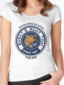 Sagat's Muay Thai 2 Women's Fitted Scoop T-Shirt