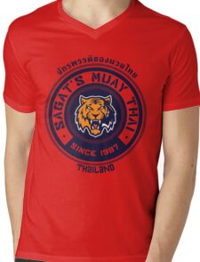 Sagat's Muay Thai 2 Mens V-Neck T-Shirt