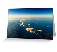 Earth Islands And Mediterranean Sea At 10.000m Altitude Above Ground Greeting Card
