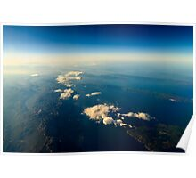 Earth Islands And Mediterranean Sea At 10.000m Altitude Above Ground Poster