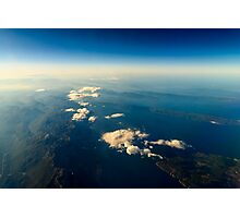 Earth Islands And Mediterranean Sea At 10.000m Altitude Above Ground Photographic Print