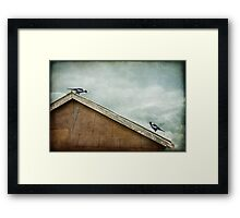 Theirs had always been a union of like minds Framed Print