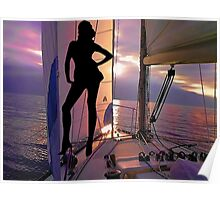 ☝ ☞ SAILING WITH A VIEW FANTASY VACATION -  PICTURE/CARD ☝ ☞ Poster