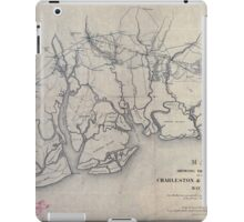 0224 Railroad Maps Map showing the location of the Charleston Savannah R R May iPad Case/Skin