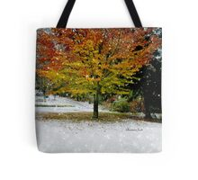 Beech Tree~ Caught in a Snow Flurry Tote Bag